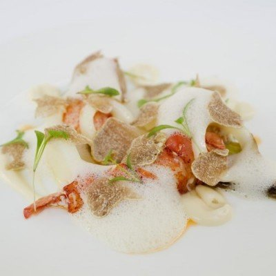 Poached Lobster, Champagne velouté, white truffle